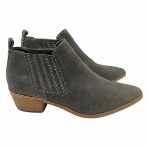 Dolce Vita Kadie Suede Chelsea Boots Gray 9.5